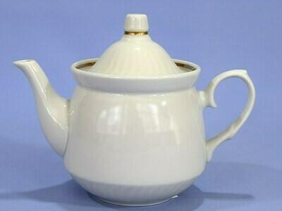Чайник 550 мл Кирмаш Белый отводка золотом 2с0581 ф34 гр