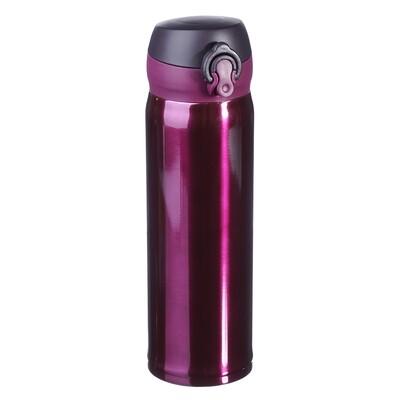 Термос-бутылка с крышкой на защелке 450 мл Satoshi 841-762