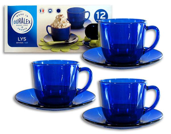 Сервиз чайный 12 предметов Duralex Lys Saphir 9035FS
