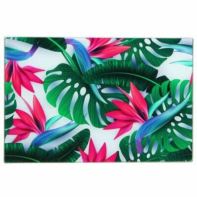 Доска разделочная стеклянная 30х40 Цветы Vetta 853-204