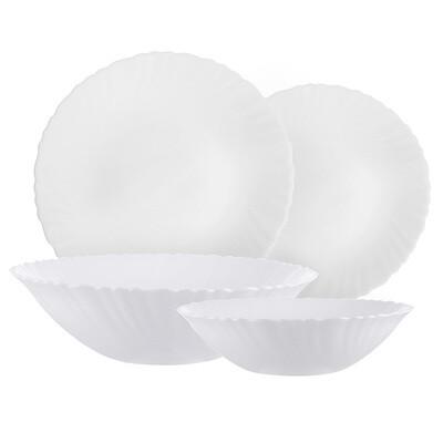 Набор столовой посуды  Бьянко 19пр., опал стекло 818-383