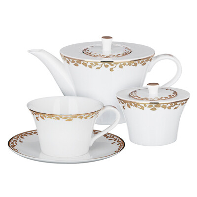 Виконт Набор чайный 14пр. чашка 270мл, костян. фарф. 802-007