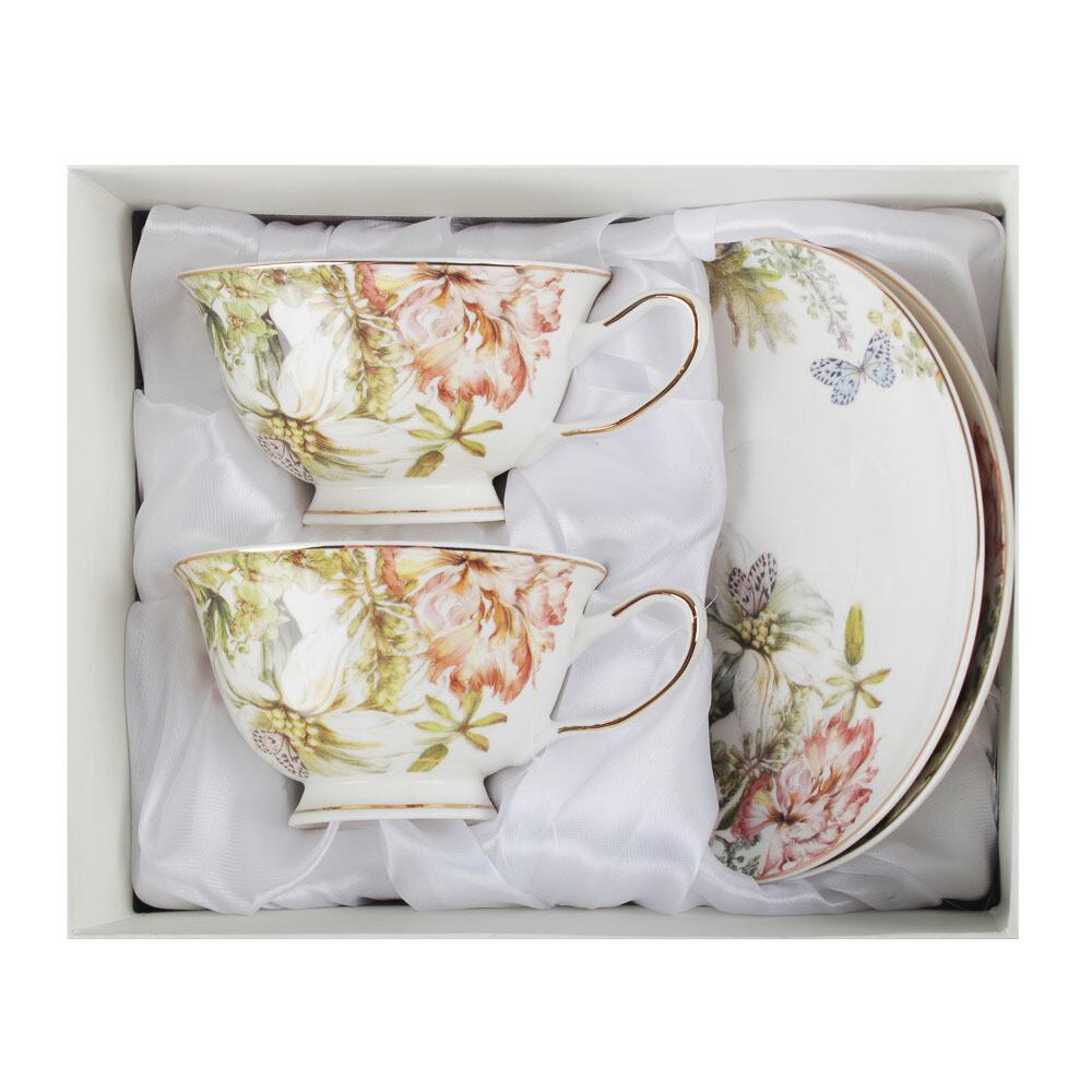Волшебные цветы Набор чайн. 4пр. 220мл, костяной фарф. 802-012