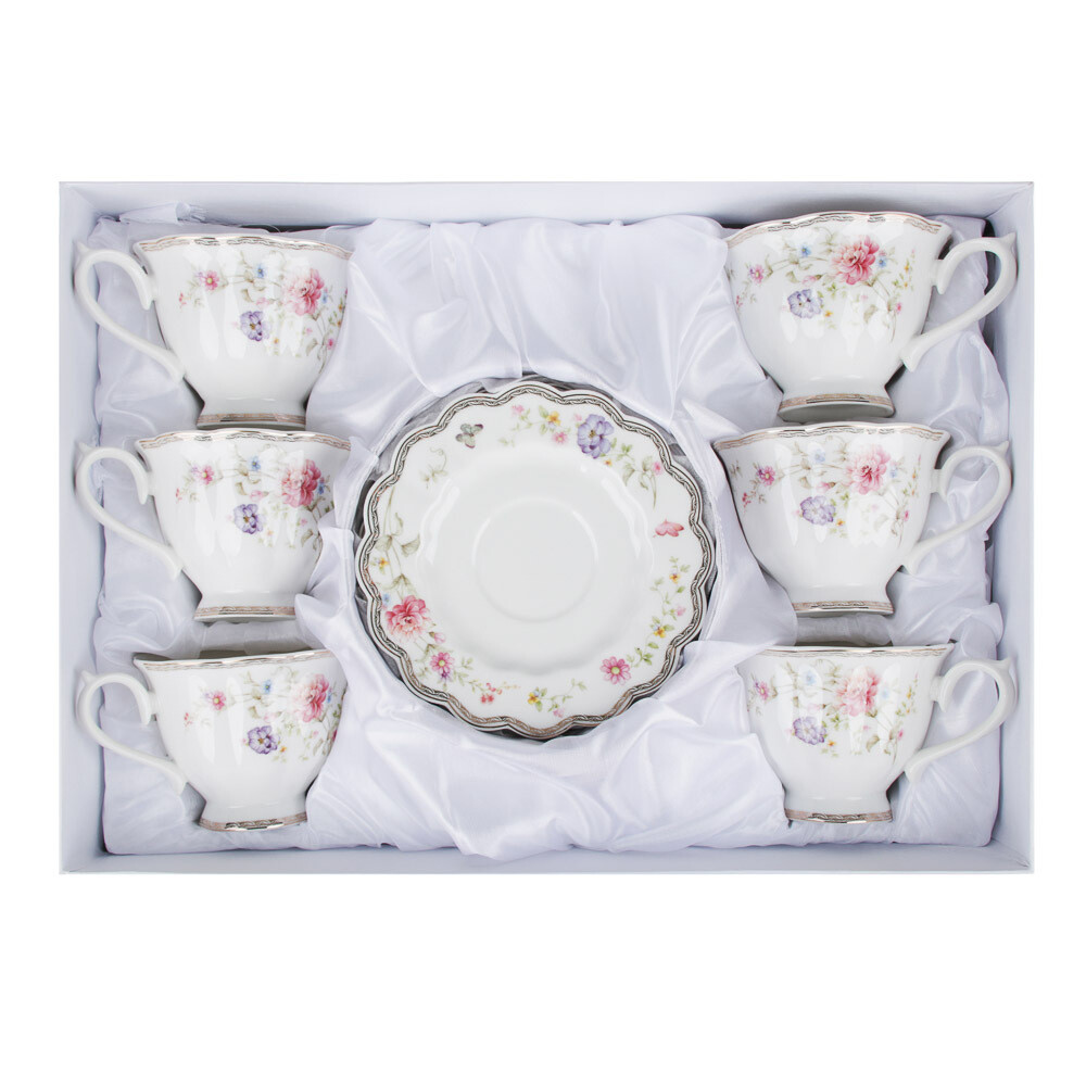 Антуанетта Набор чайный 12пр. 220мл костян. фарф. 802-038