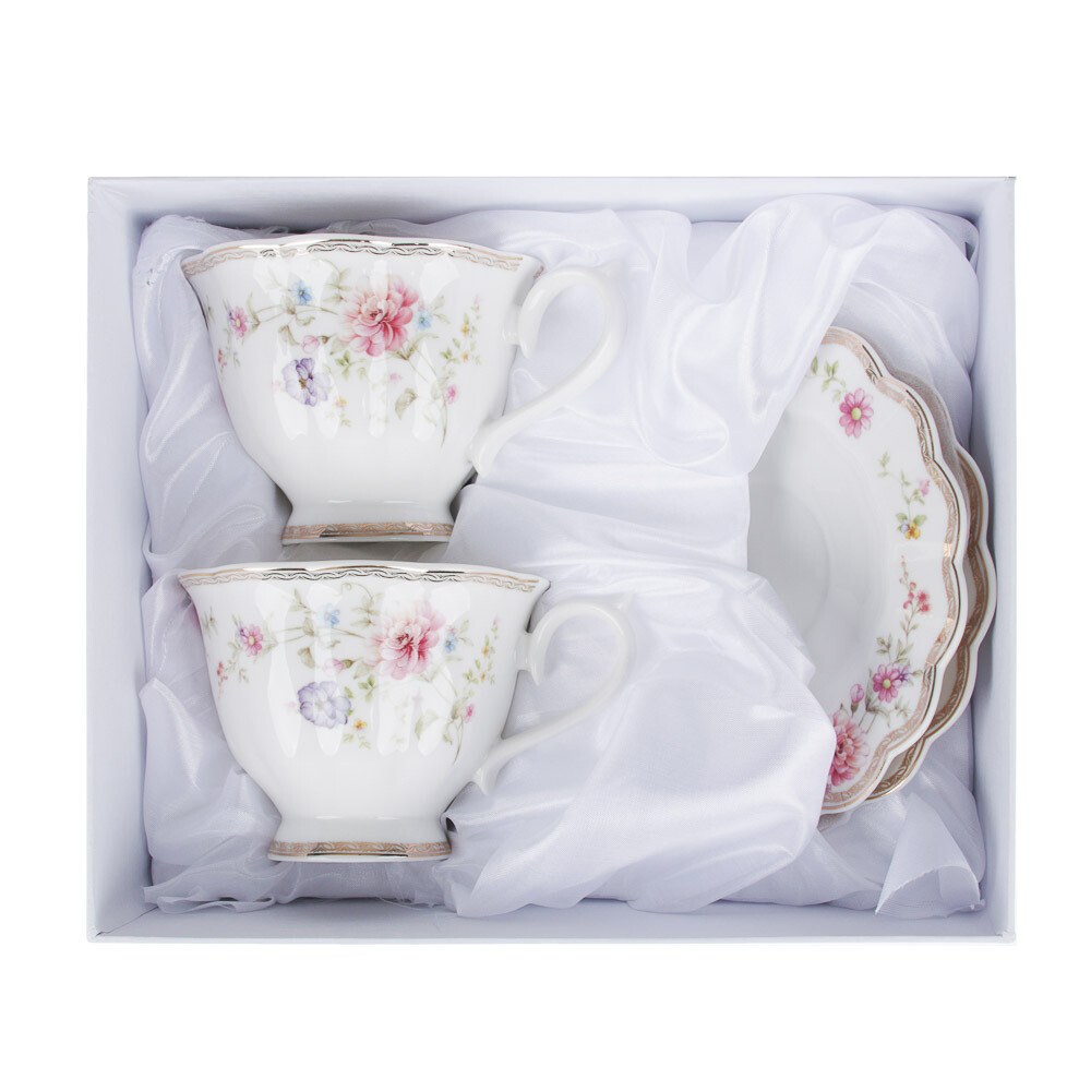 Антуанетта Набор чайный 4пр. 220мл. костян фарф. 802-036