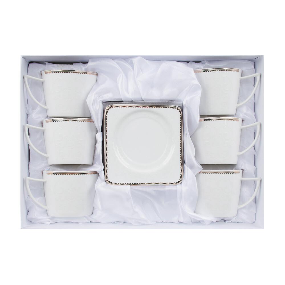 Катрин Набор чайный 12пр. 250мл, костян. фарф. 802-048