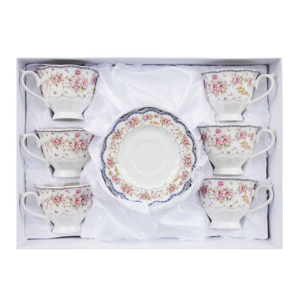 Мария Набор чайный 12пр. 220мл, костян. фарф. 802-039