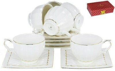 Сервиз чайный, 12 предметов, 220мл шелк 101-12004