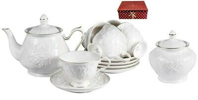 Набор чайный, 220 мл, 14 предметов, шелк 101-30015