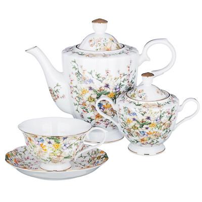 Версаль Набор чайный 14 пр., чашка 240мл, костян. фарф. 802-008