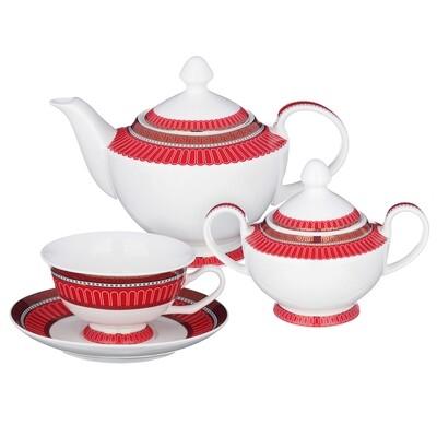 КРАСНЫЙ МОНФОР Сервиз чайный, 14 предметов, 210 МЛ, MILLIMI 821-001