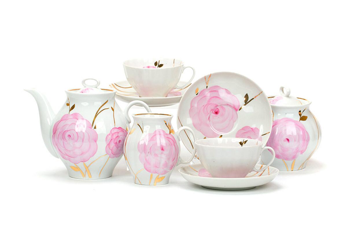 """Сервиз чайный """"Весенний"""", 15 предметов, С113"""