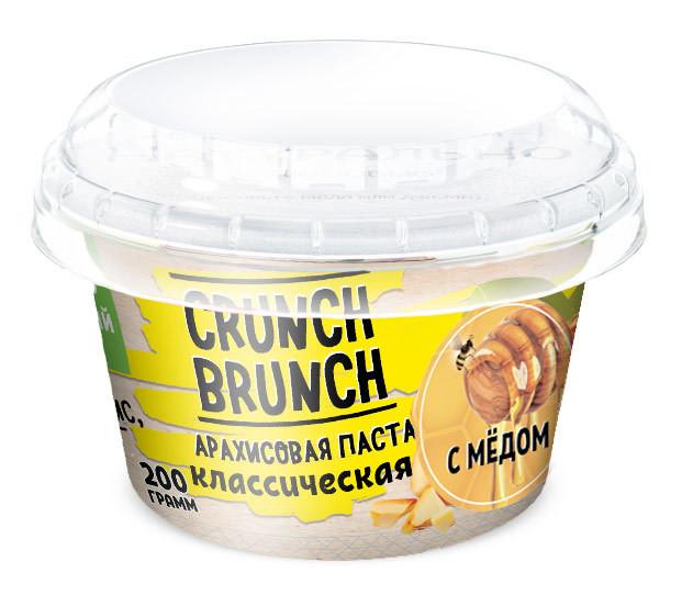 Crunch Brunch Арахисовая паста Классическая с мёдом