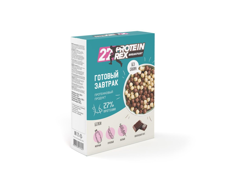Готовый завтрак с высоким содержанием протеина 27% Protein Rex