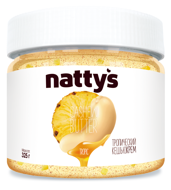 Тропический кешью-крем с кусочками ананаса Nattys