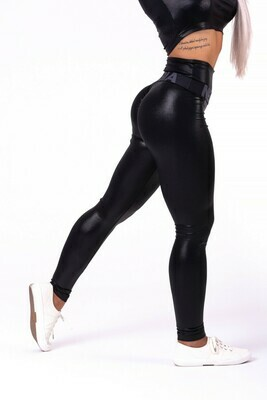 "Леггинсы High waist ""Sandra D"" glossy leggings 656"