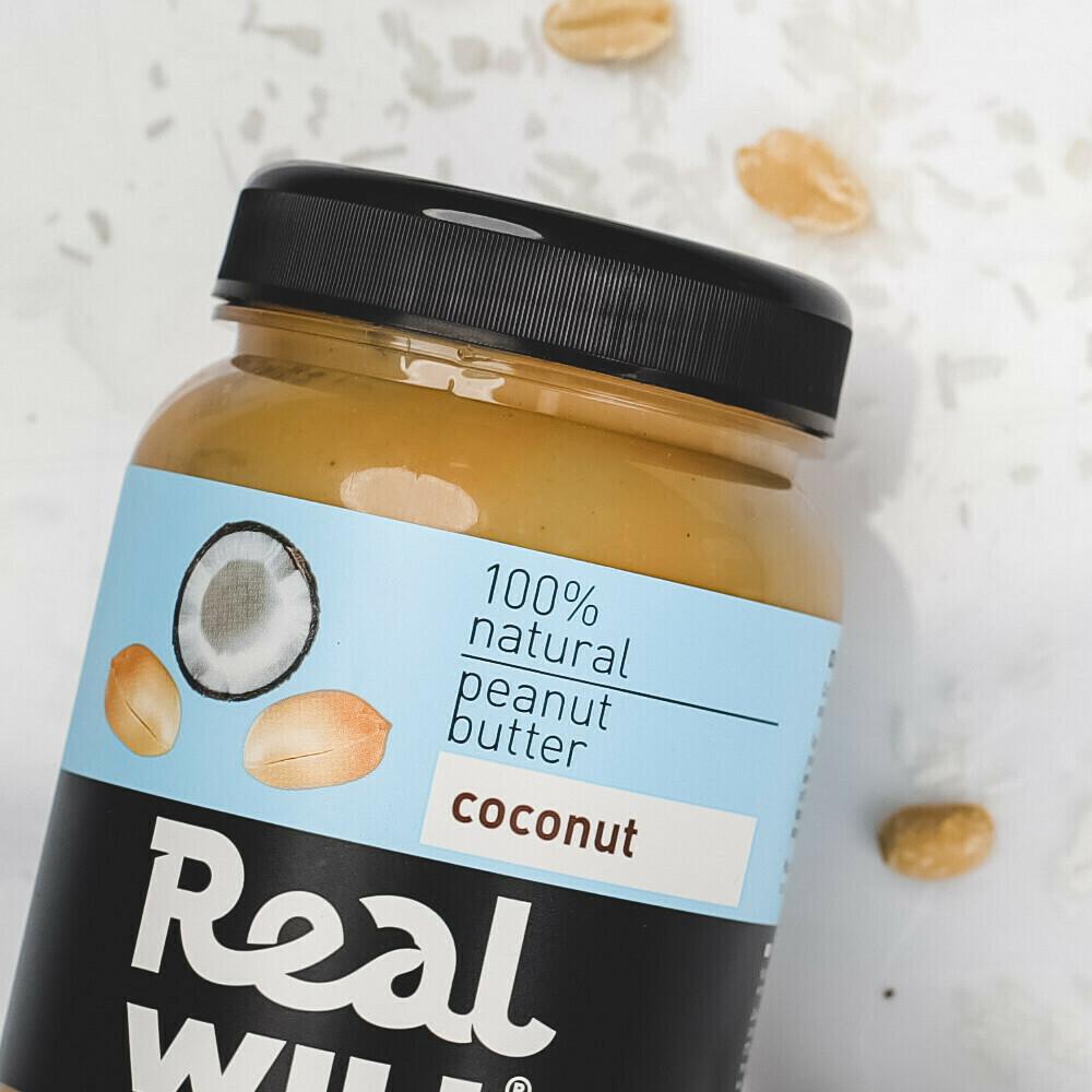 Арахисовая паста с кокосом Real Will