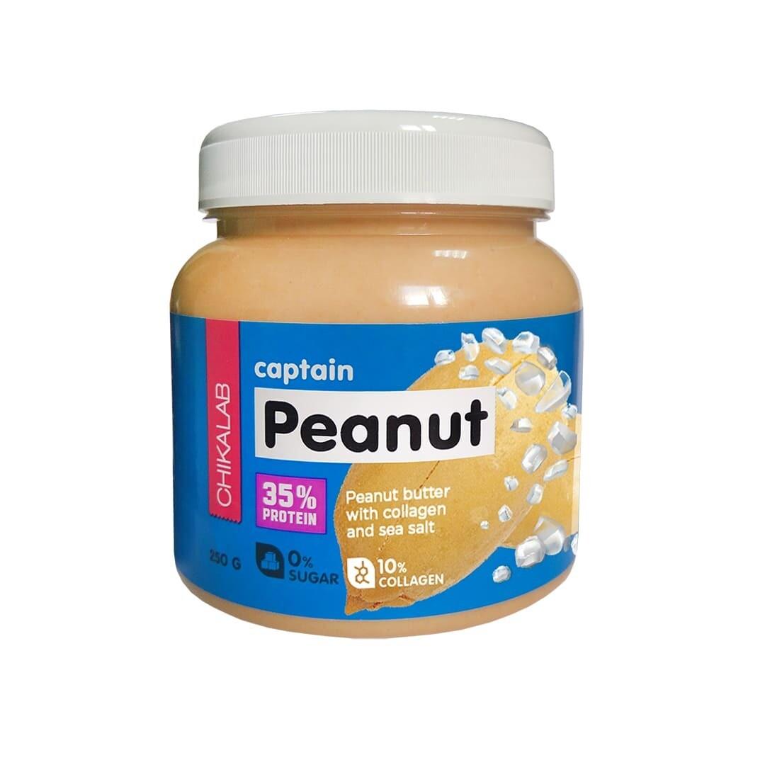 Captain Peanut Арахисовая паста с морской солью Chikalab