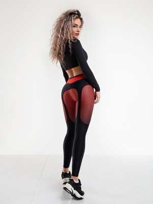 "Лосины Christina Aguilera ""Black & Red"" Bona Fide"
