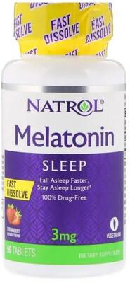 Melatonin 3 mg Fast Dissolve Natrol