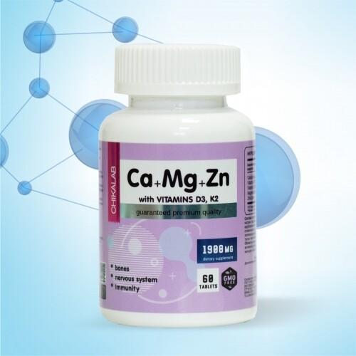 Ca+Mg+Zn, D3, K2 Chikalab