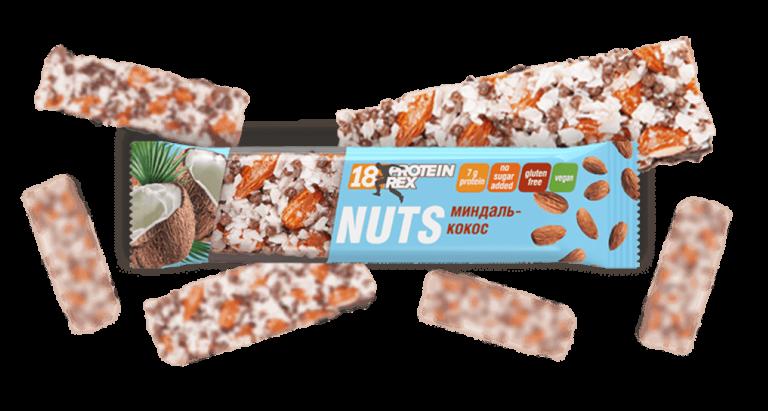 Nuts Ореховый батончик ProteinRex