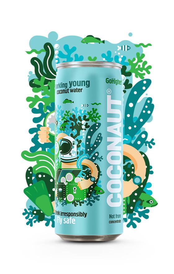 Кокосовая вода Coconaut газированная