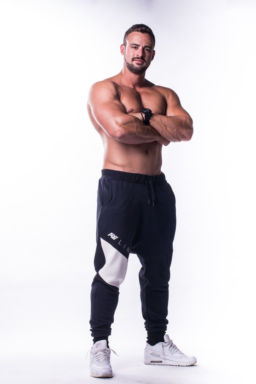 Спортивные брюки DROP CROTCH PANTS 729 NEBBIA
