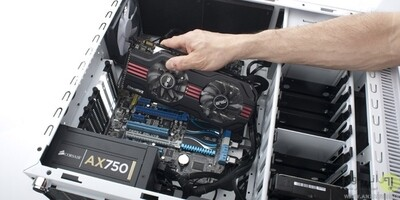 Installation of graphics card PC