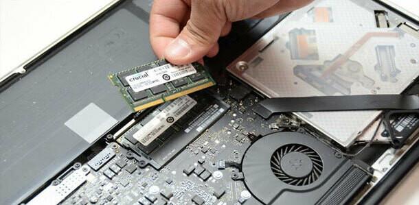 Memory upgrade notebook