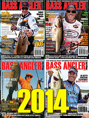 2014 BASS ANGLER Magazine Back Issue Set