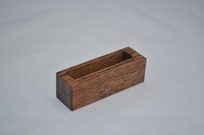 Oak Business Card Holder