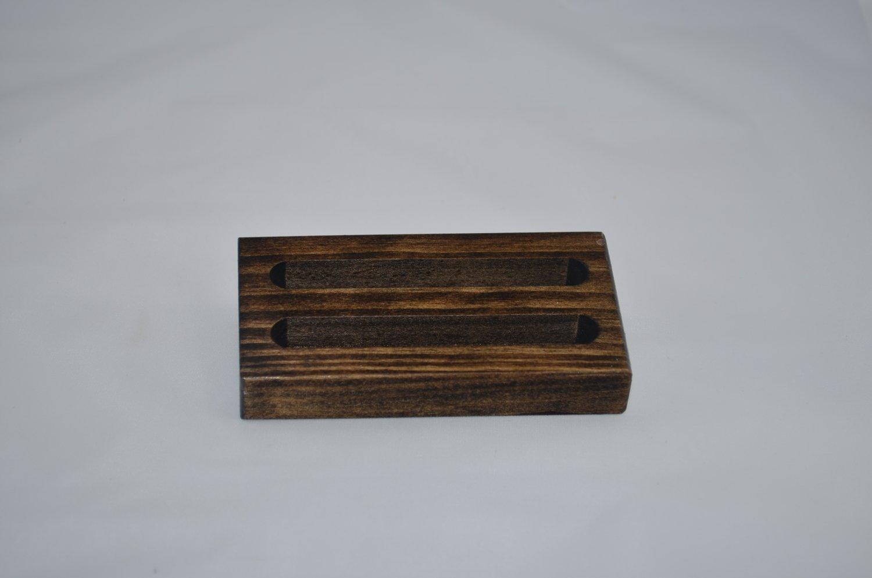 Wood Business Card Holder 2 Slot
