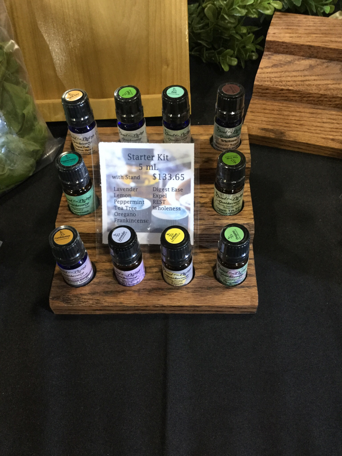 LLA Essential Oils Starter Kit 5mL with Stand