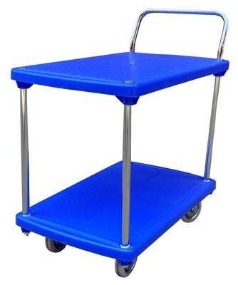 2 Shelf Plastic Stock Picking Trolley