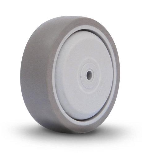 100mm Grey Rubber Supermarket Wheel