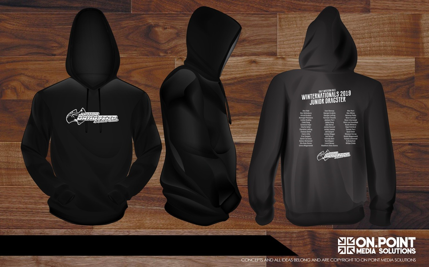 Junior Dragster Adult Hoodie