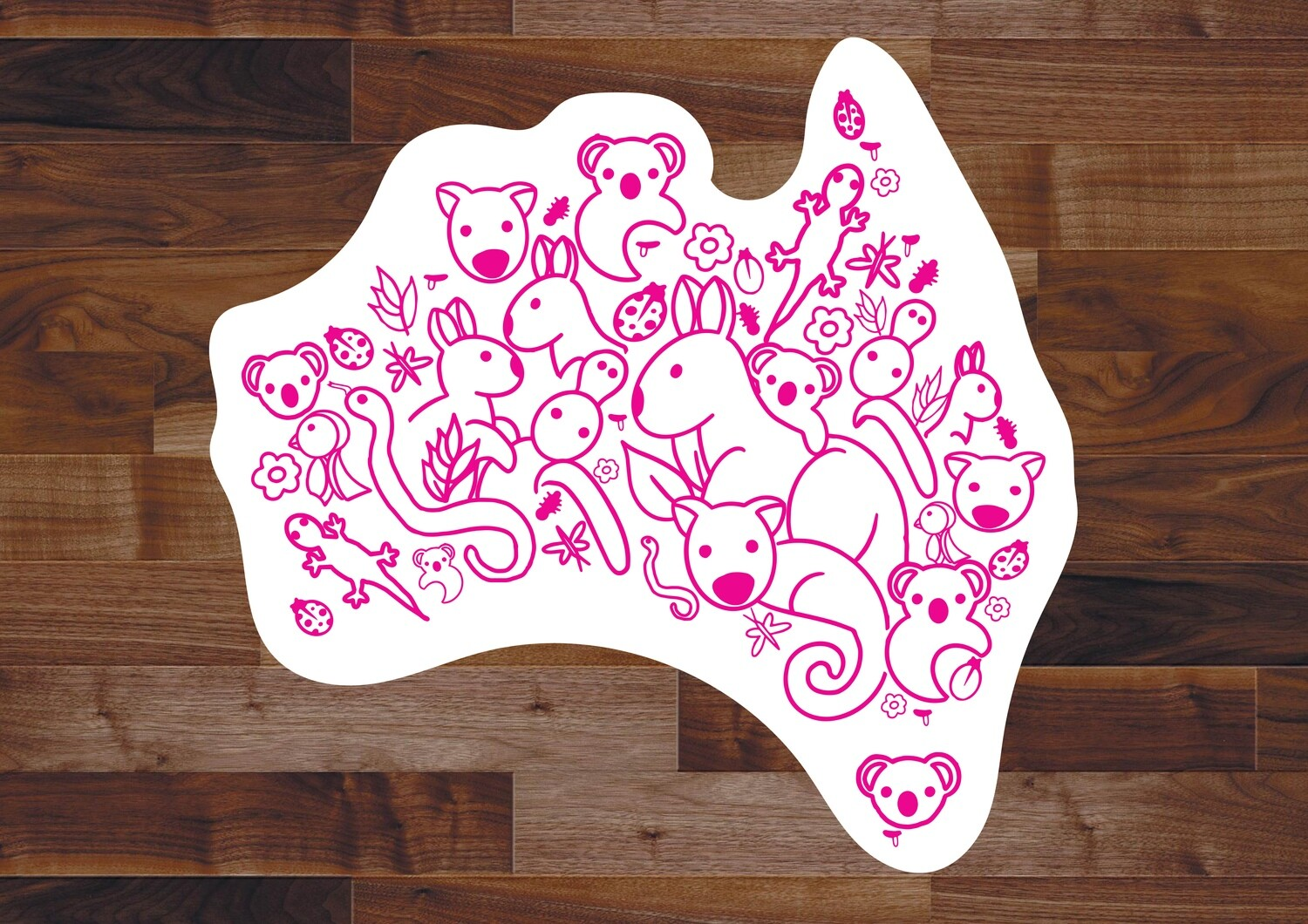 Animals of Australia Sticker
