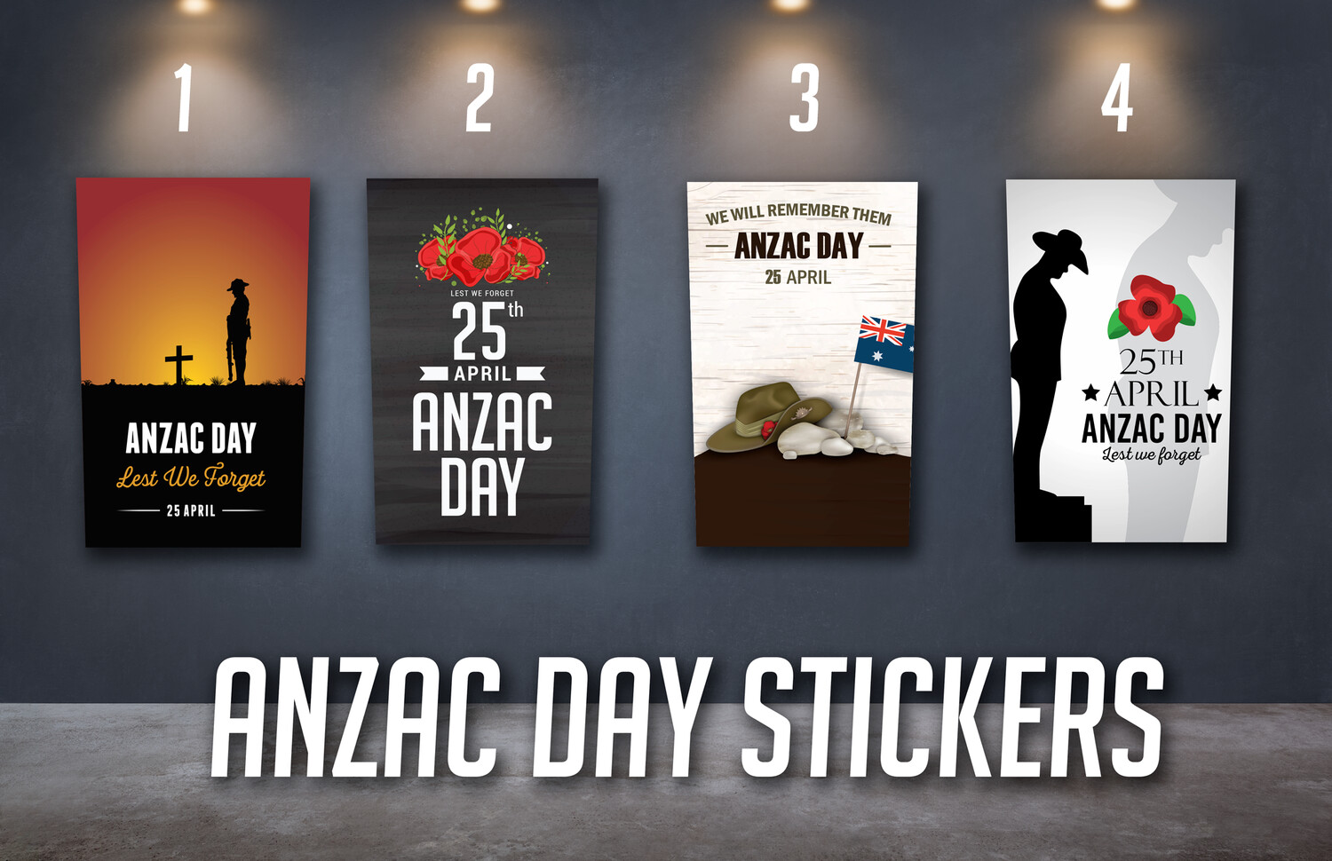 Anzac Day Sticker Set