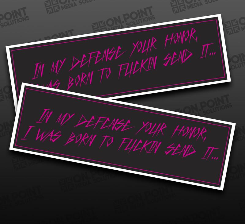 Pink Judge Slap Stickers