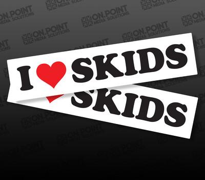 I <3 Skids Slap Sticker