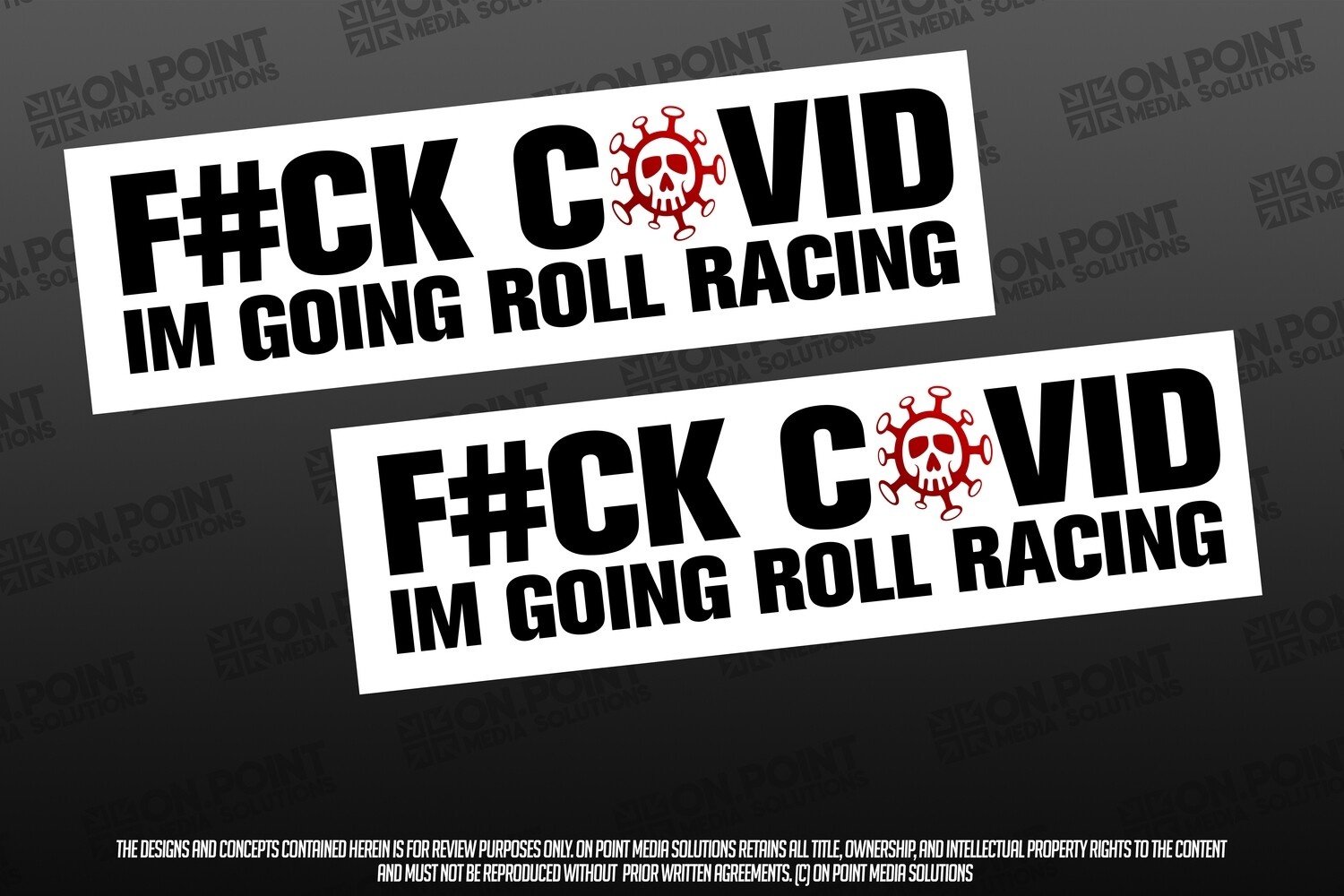 F#CK CORONA IM GOING ROLL RACING TWIN PACK