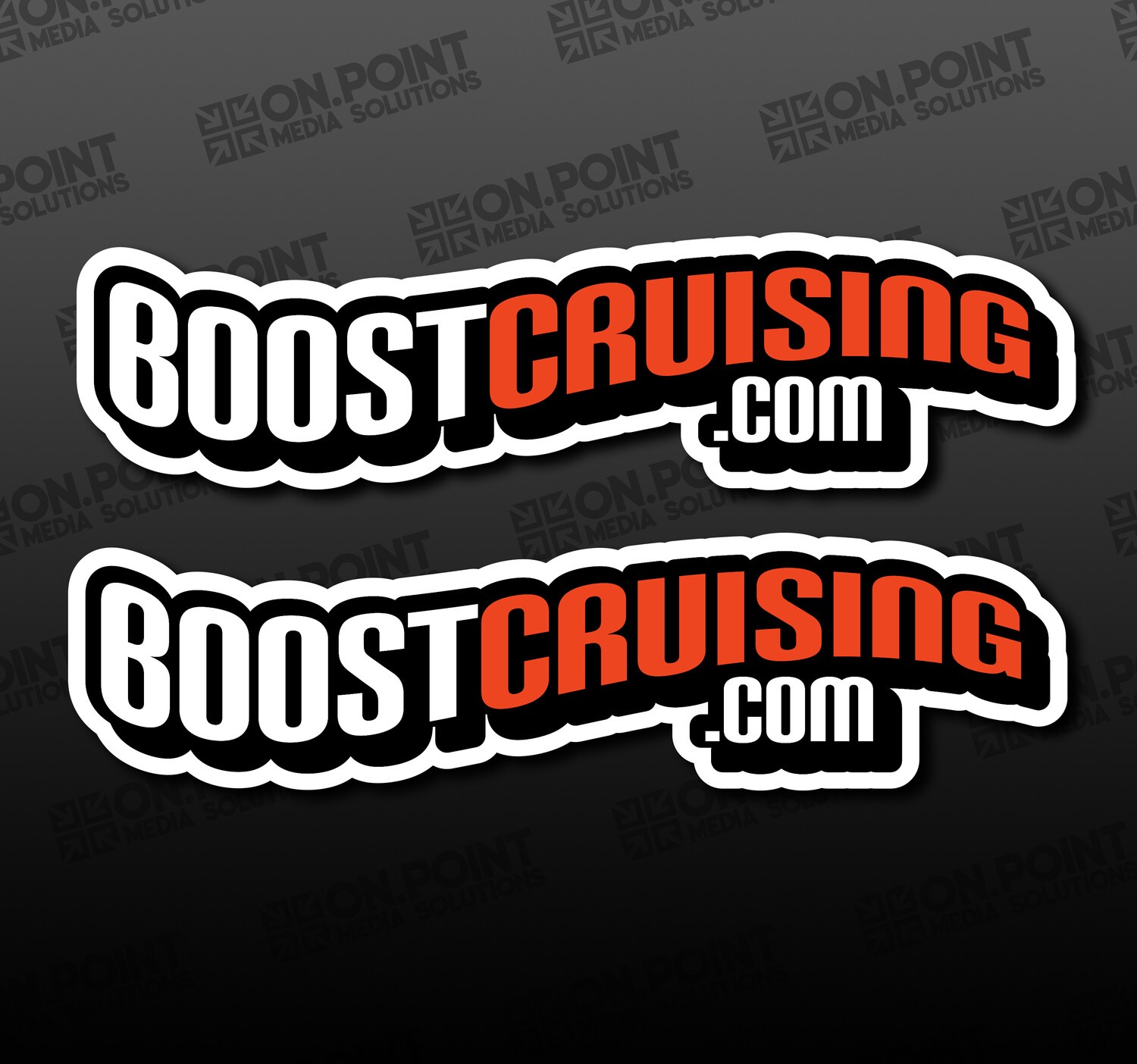 The Boostcruising OG Sticker Twin Pack