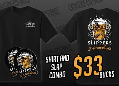 Slippers & Deckchairs T-Shirt Combo