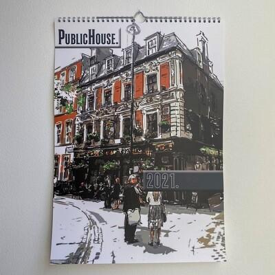 2021 Calendar - Iconic London Pubs
