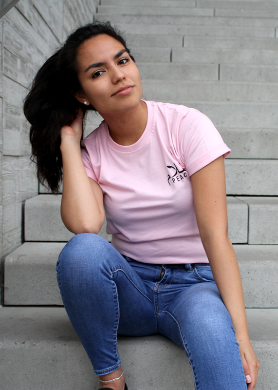 Baby Pink Unisex Peace Fitted T-Shirt