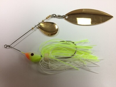 3/4 oz Classic Spinnerbait Chart/White Colorado/Willow Gold