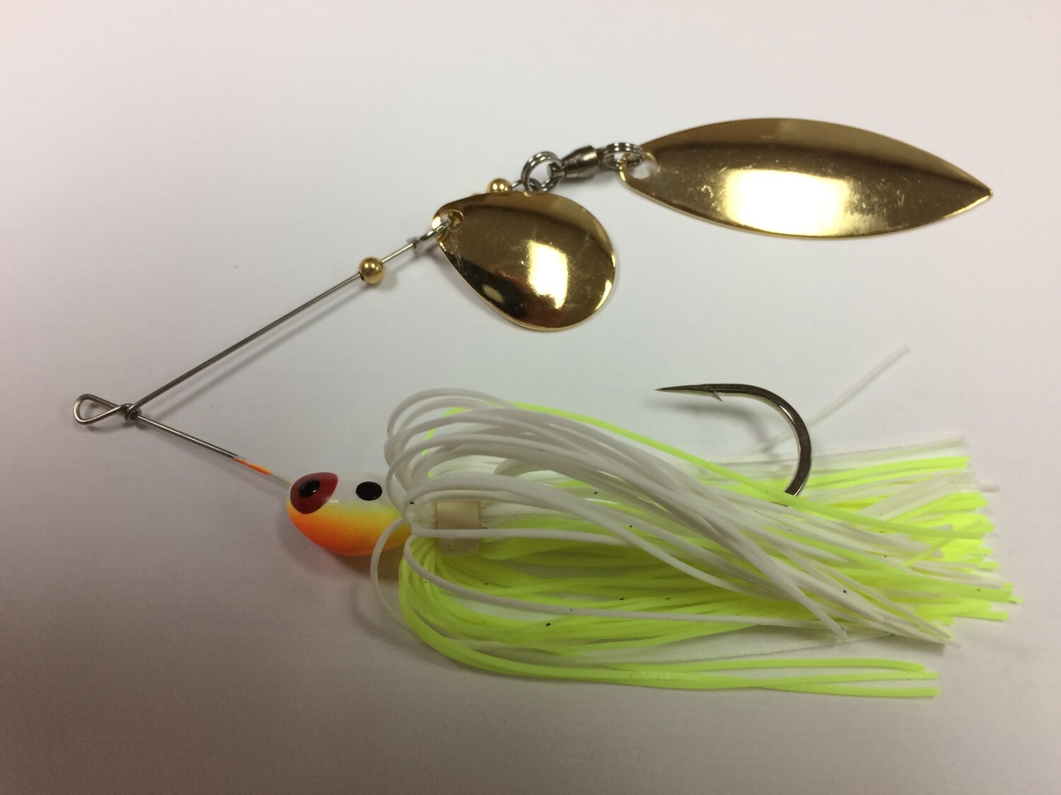 1/4 oz Classic Spinnerbait Chart/White Colorado/Willow Gold