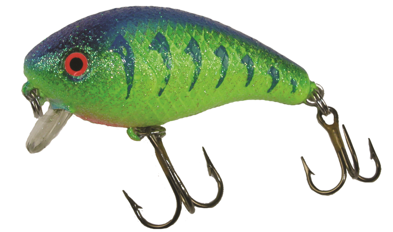 1/4 oz Baby 1- Minus Blue/Green Sunfish Crystaglow