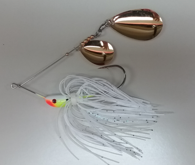 3/4 oz Classic Spinnerbait White